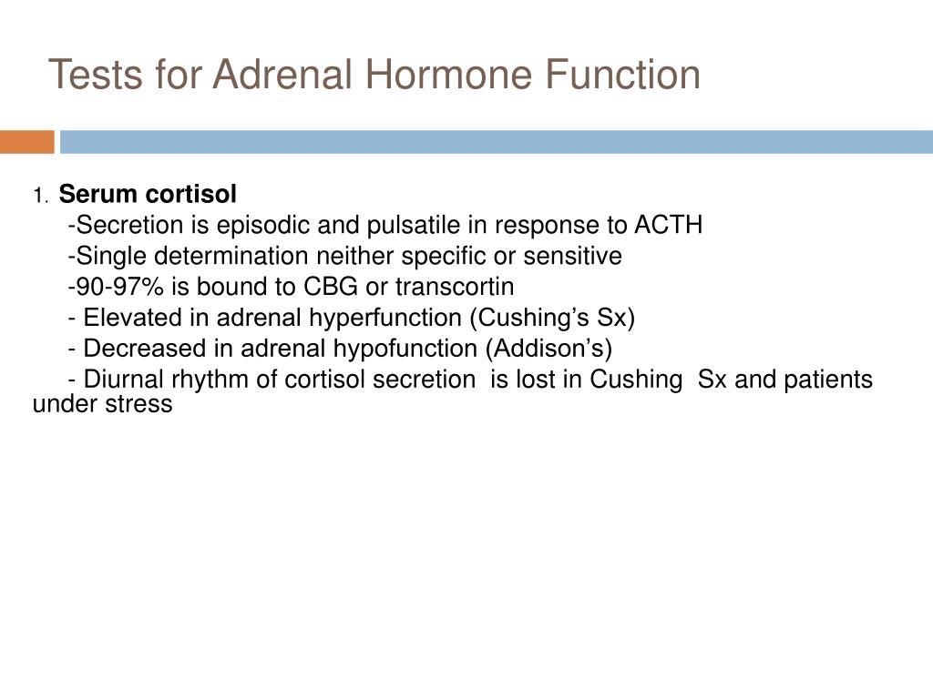 adrenal function tests pdf