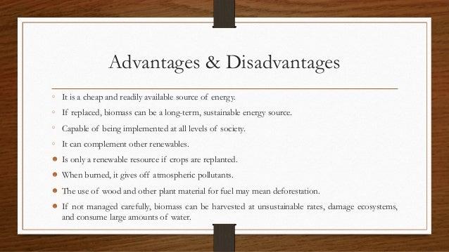 biomass energy advantages and disadvantages pdf