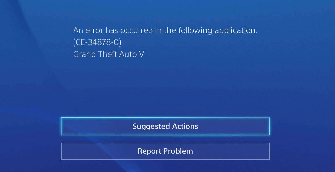an error has occurred in the following application ce-34878-0