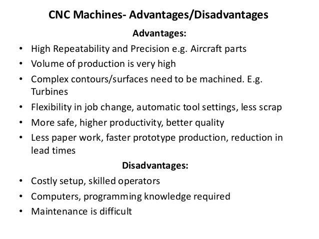 disadvantages of cnc machine pdf