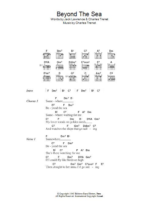 beyond the sea ukulele chords pdf