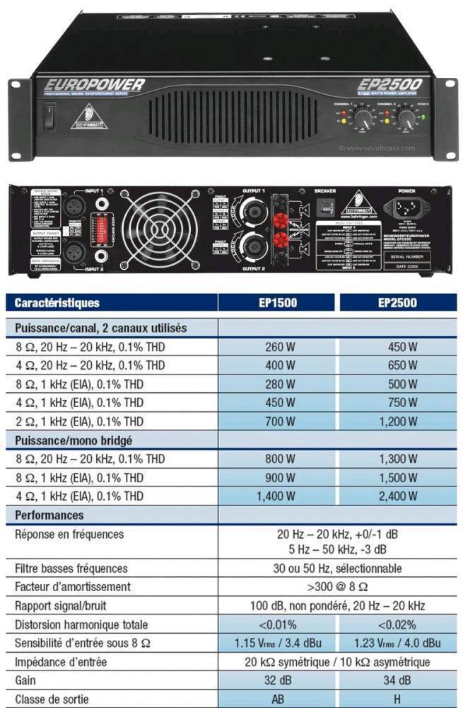 behringer 2500 power amp manual