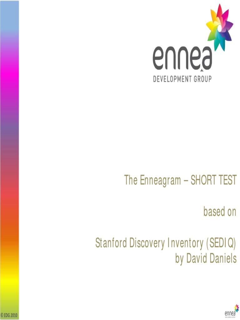 best enneagram test pdf