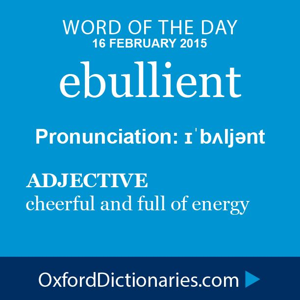 dictionary ebullient