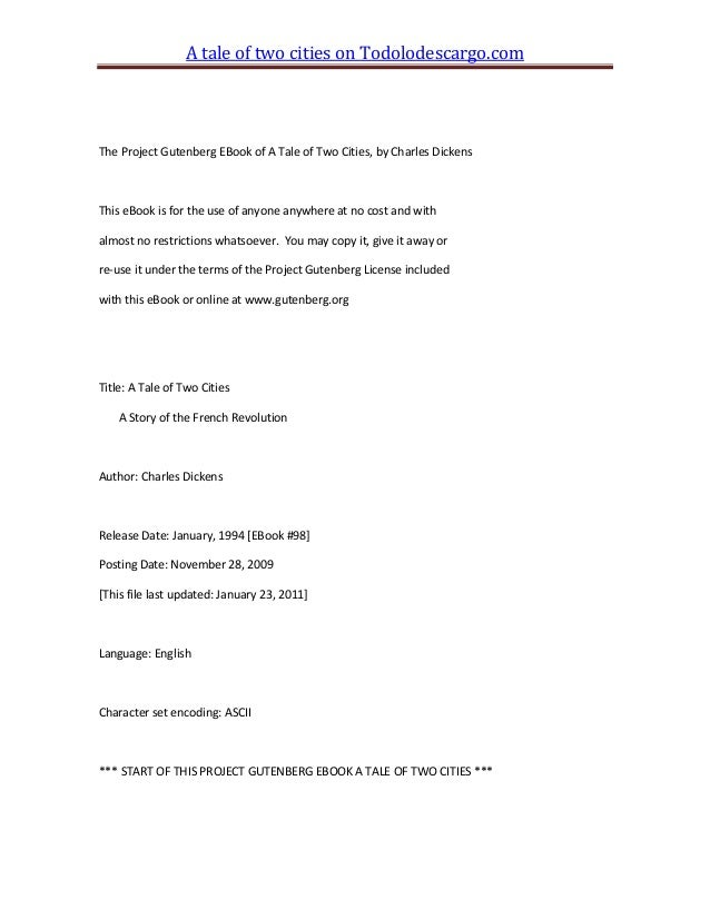 a tale of two cities pdf project gutenberg