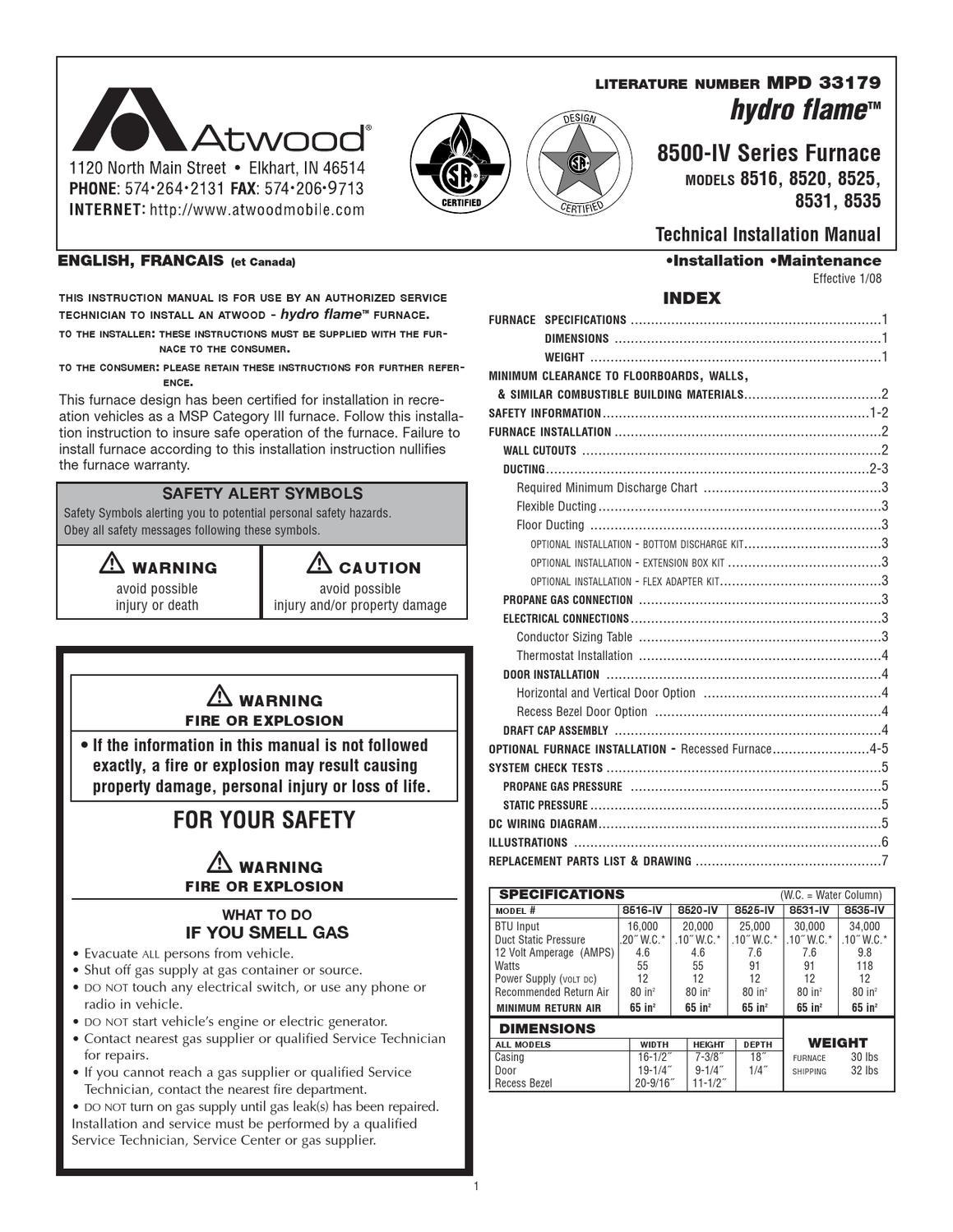 atwood hyda flame operating manual