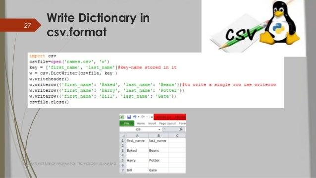 csv to dictionary python