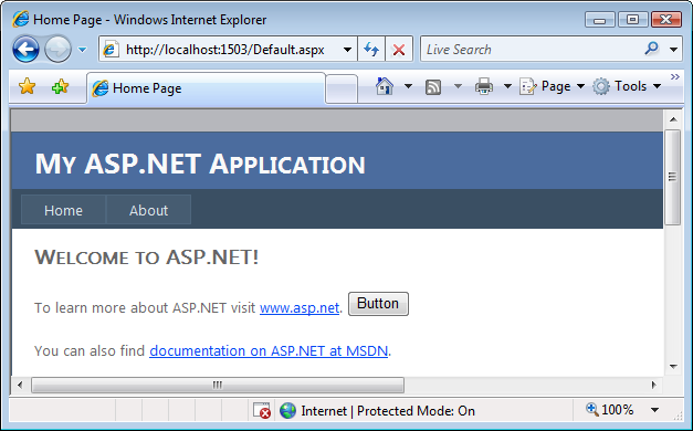 asp net web application example