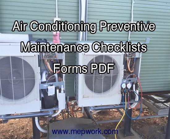 air conditioning preventive maintenance checklist pdf