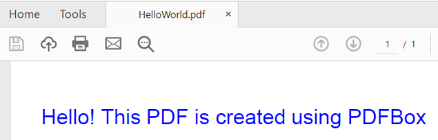 create pdf using java