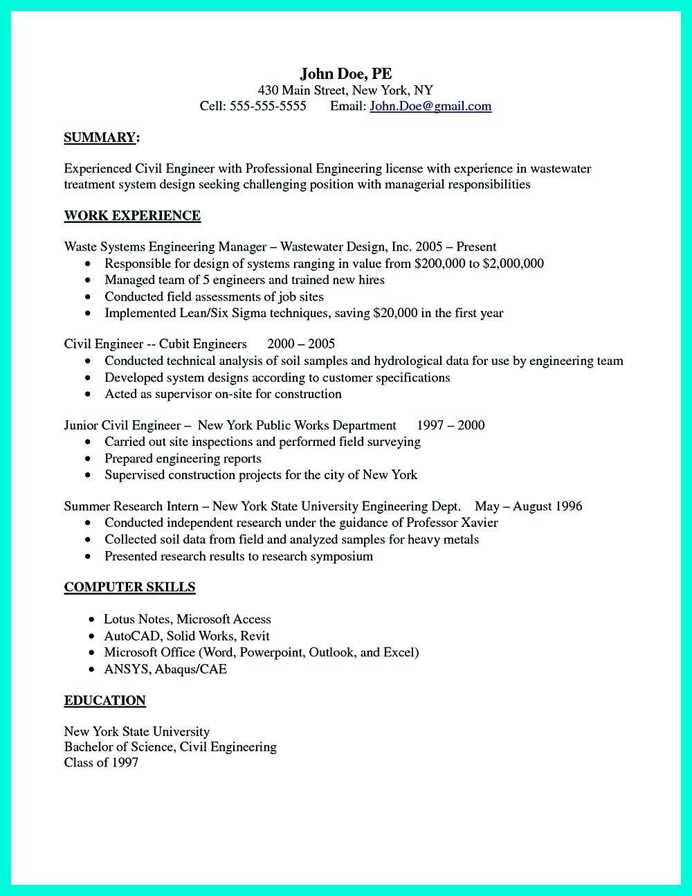 best resume samples pdf