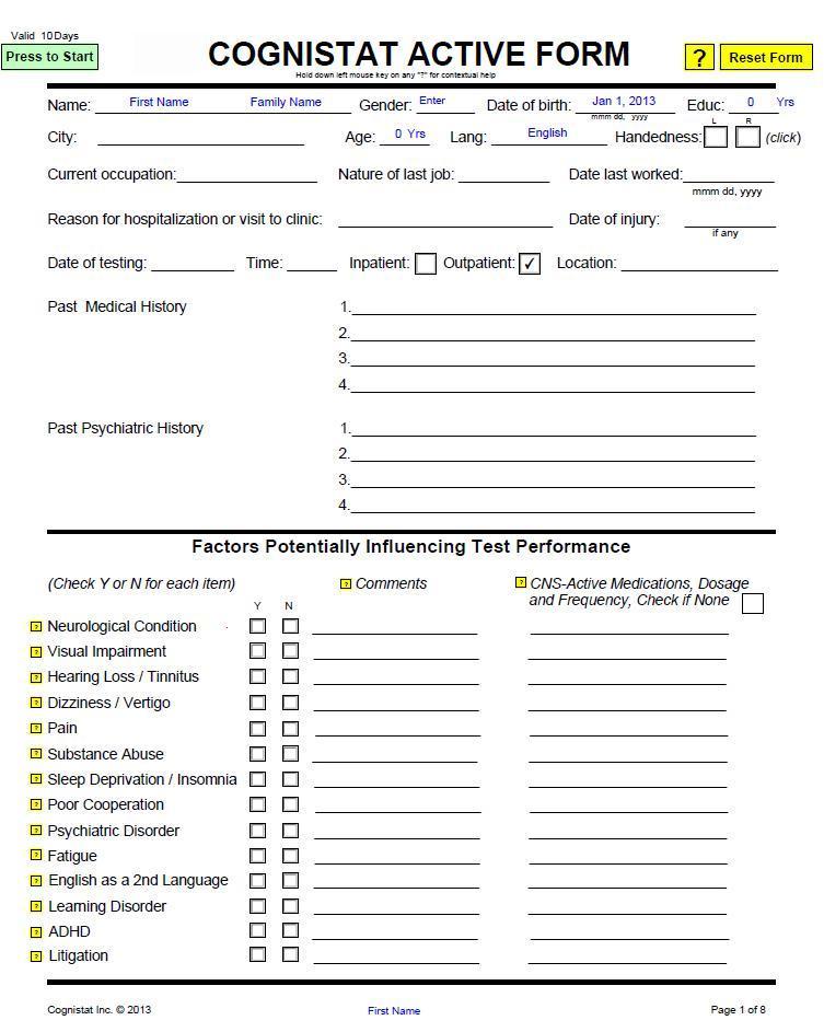ace test score interpretation pdf