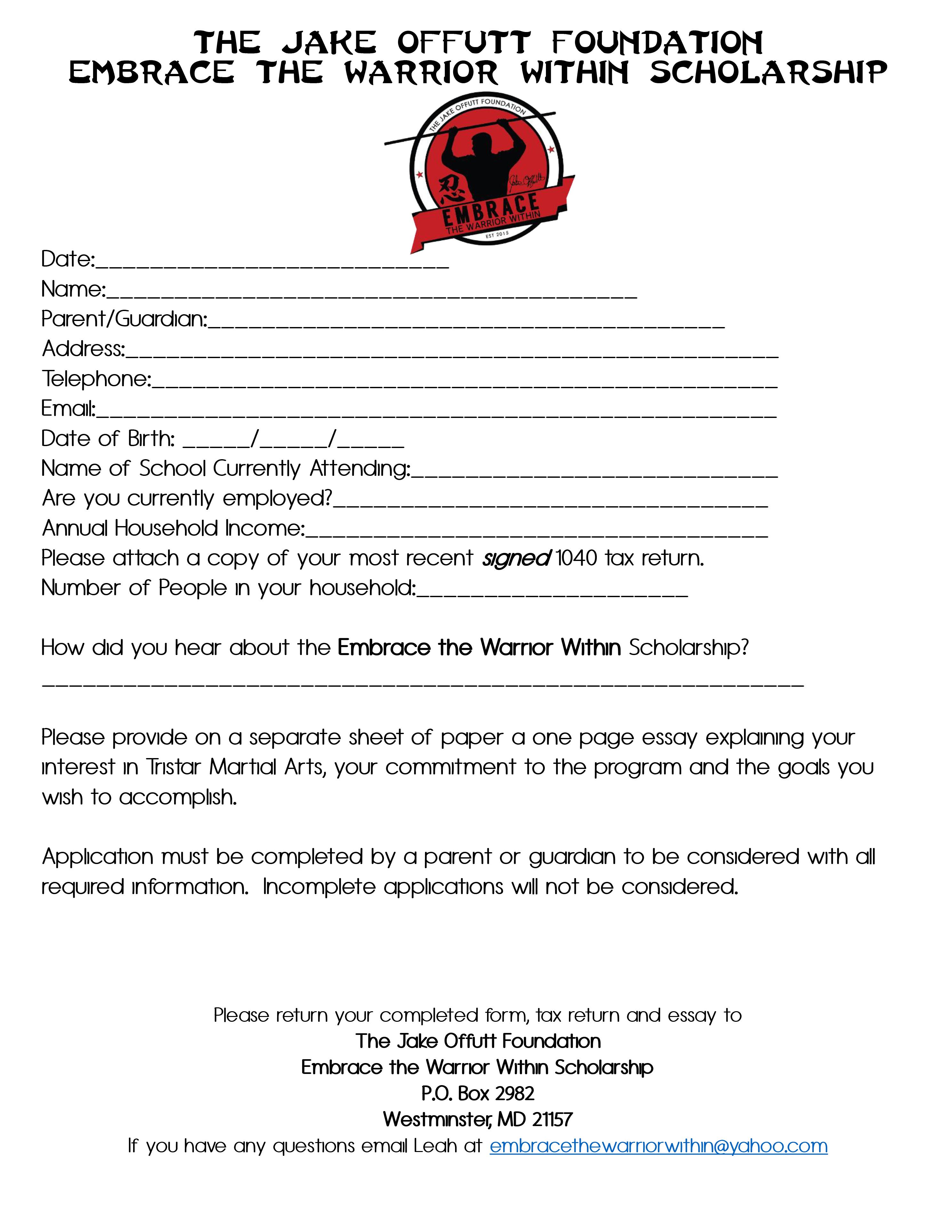 acg founders scholarship application