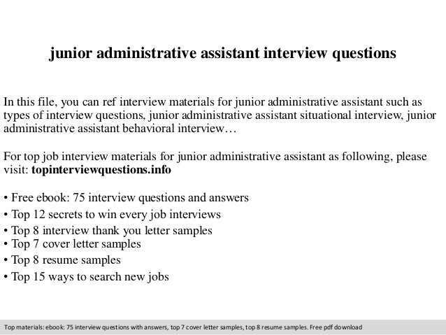 administrative assistant interview questions pdf