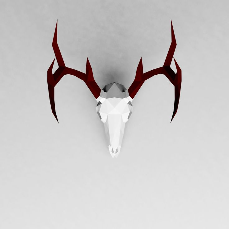 3d deer head template pdf free download