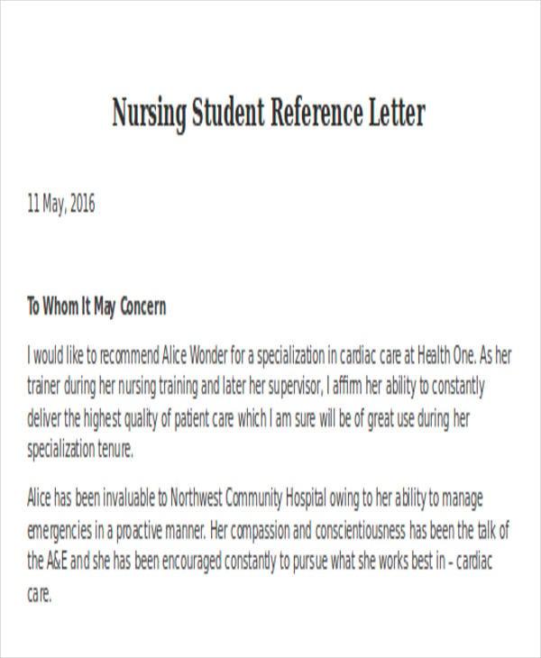 aged care supervisor reference letter sample