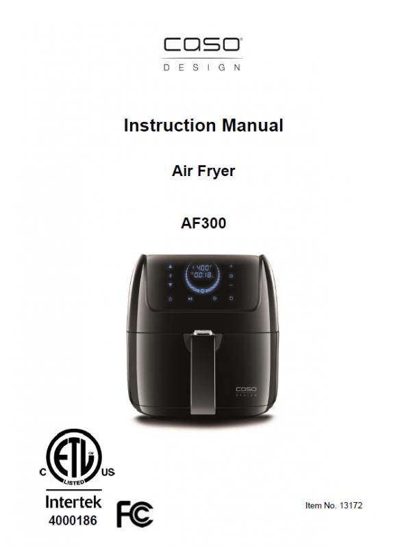 air fryer 2.5litre instruction manual