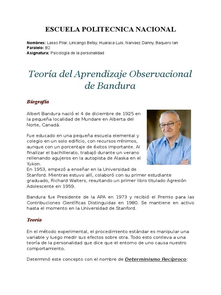 albert bandura biography pdf