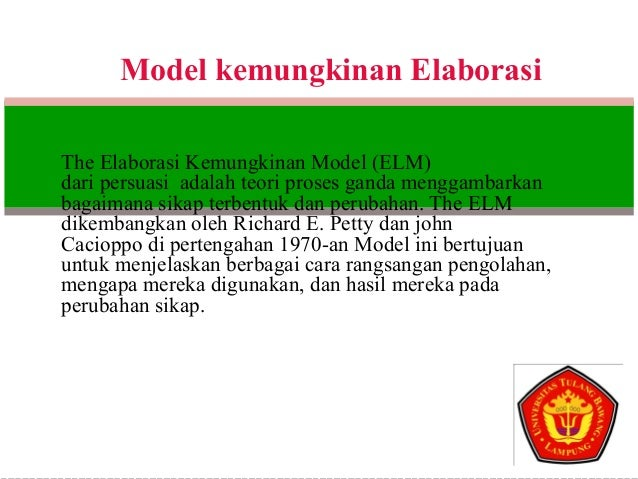 an application of the elaboration likelihood model