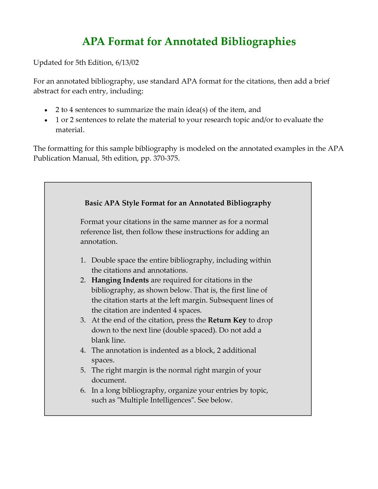 apa bibliography guide
