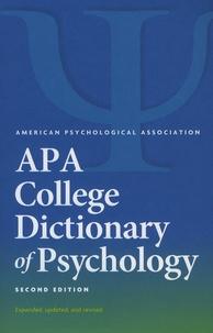 apa dictionary of psychology pdf