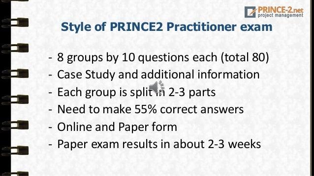 apmg prince2 practitioner sample exam