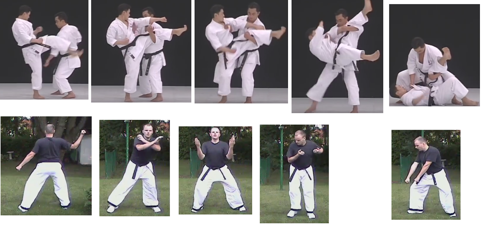 application for deflect sidewaws step forward and punch