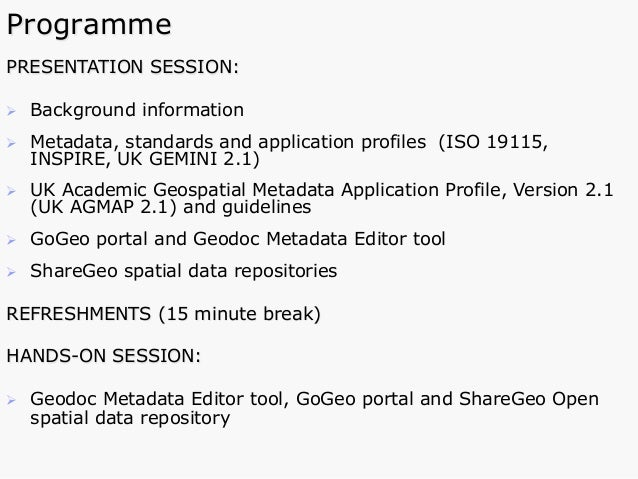 application of metadata gis