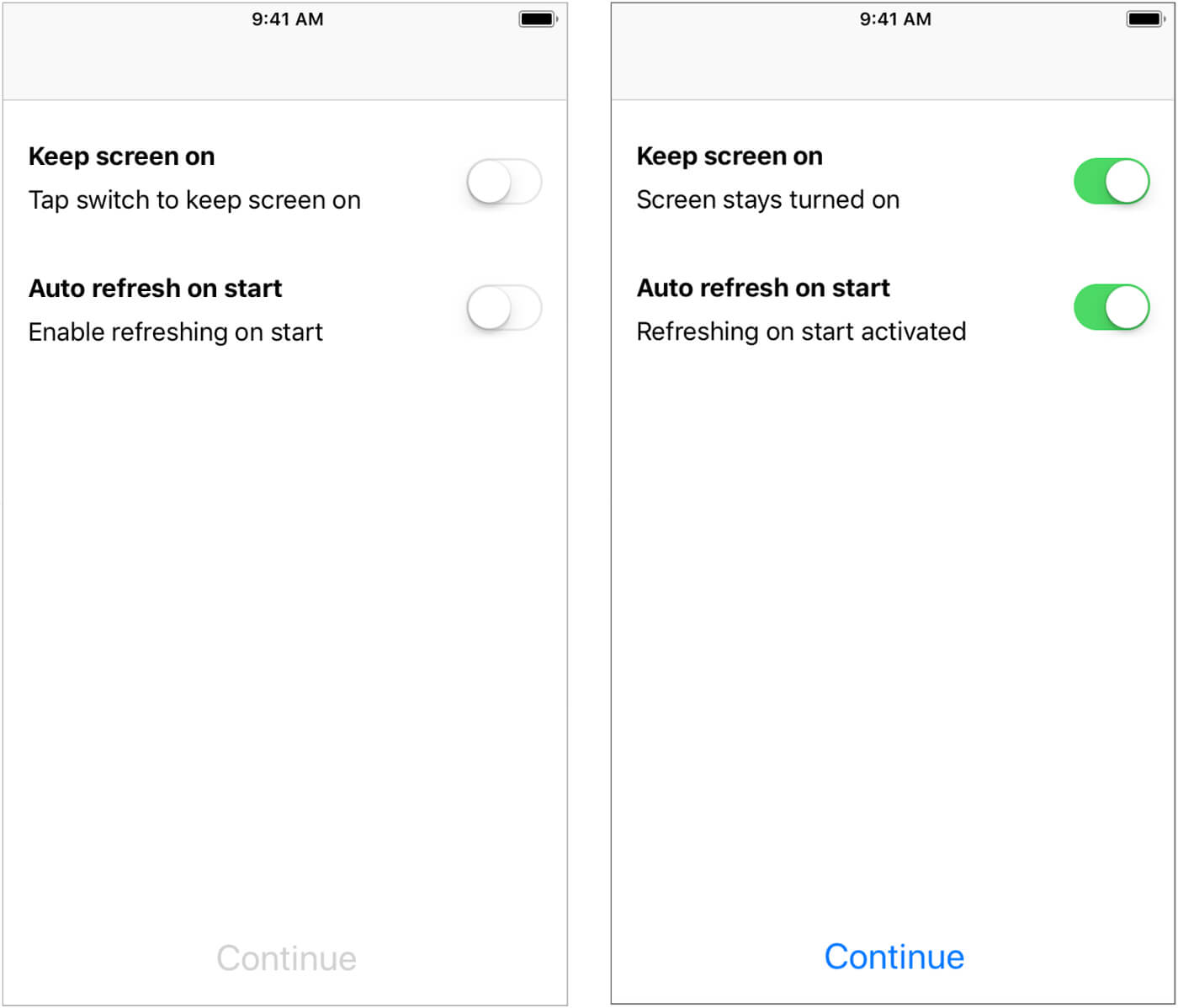 application state inactive ios