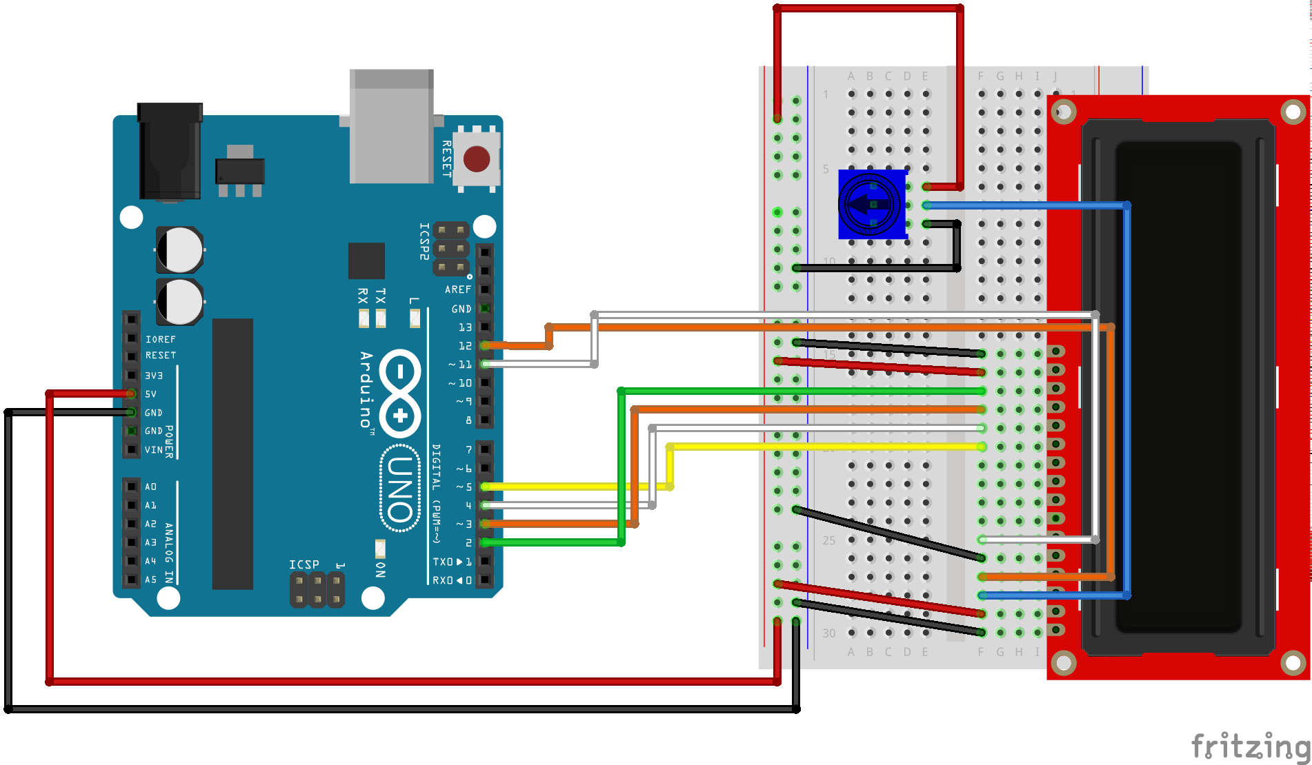 arduino uno and 16x2 lcd hook up guide