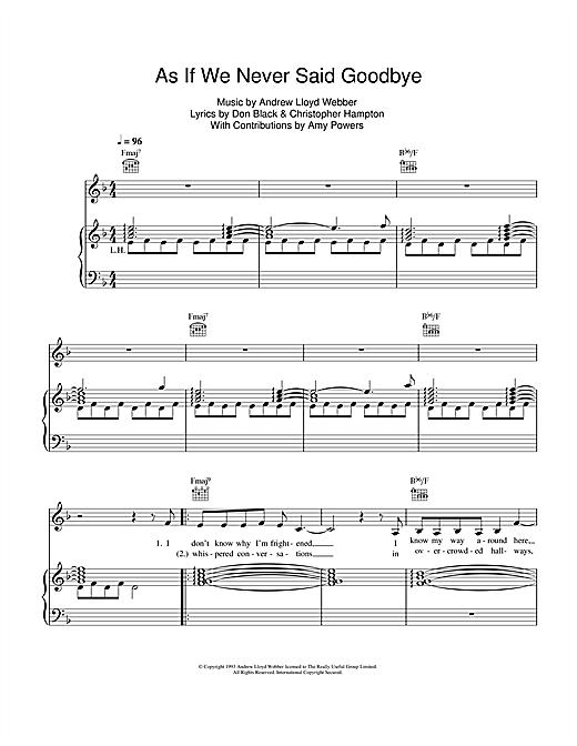 as if we never said goodbye sheet music free pdf