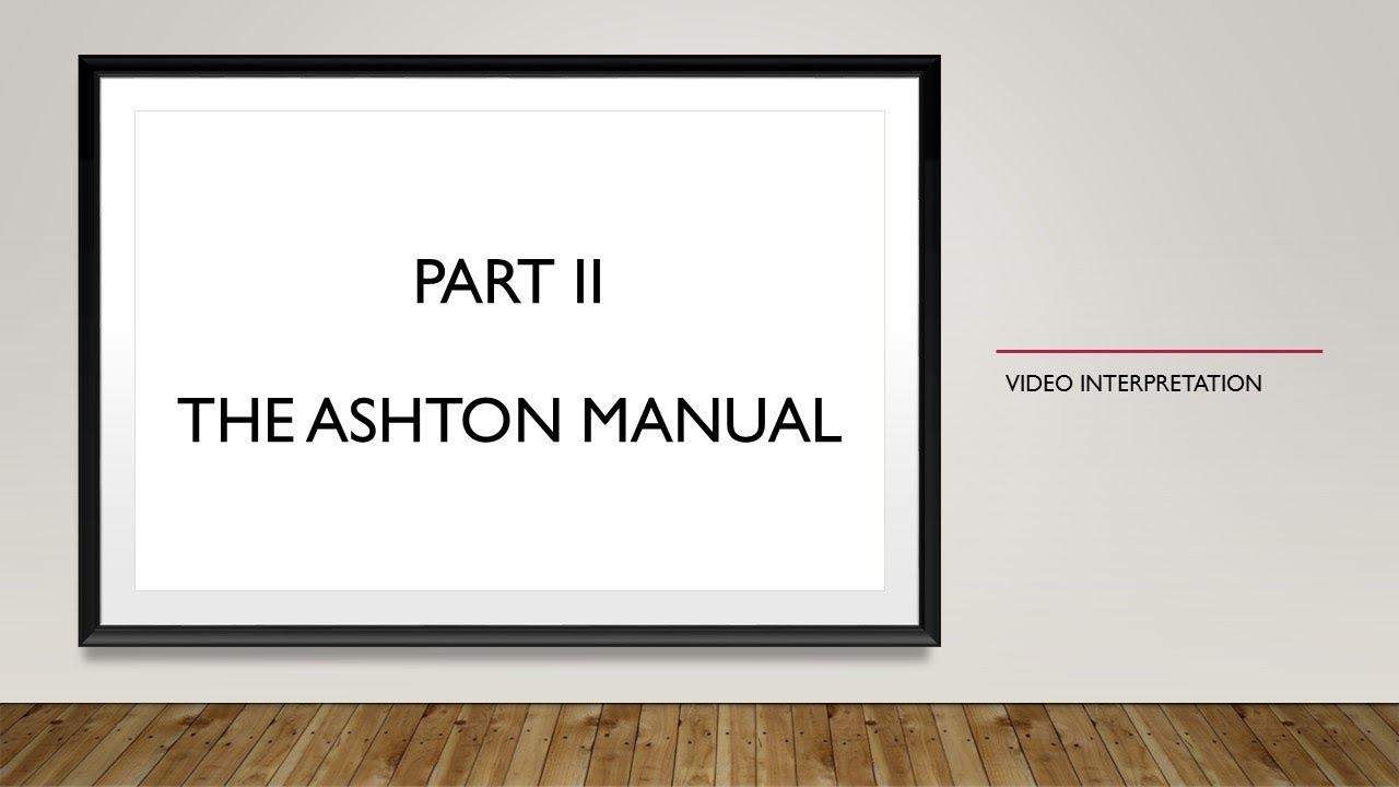 ashton manual