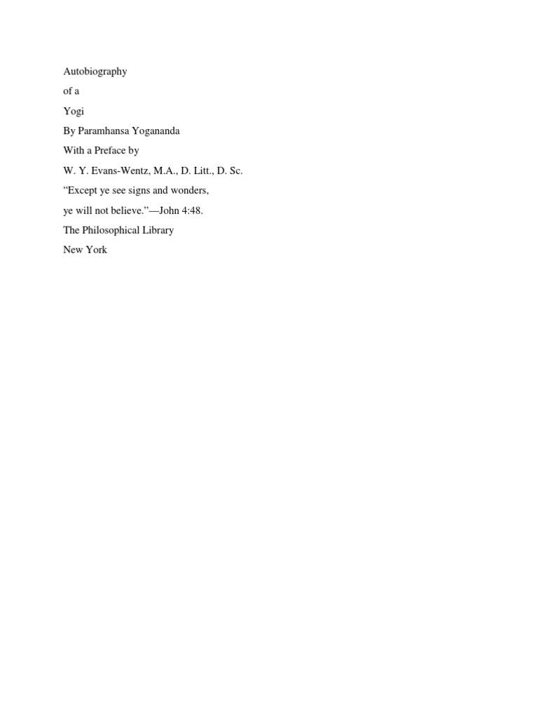 autobiography of a yogi by paramahansa yogananda free pdf