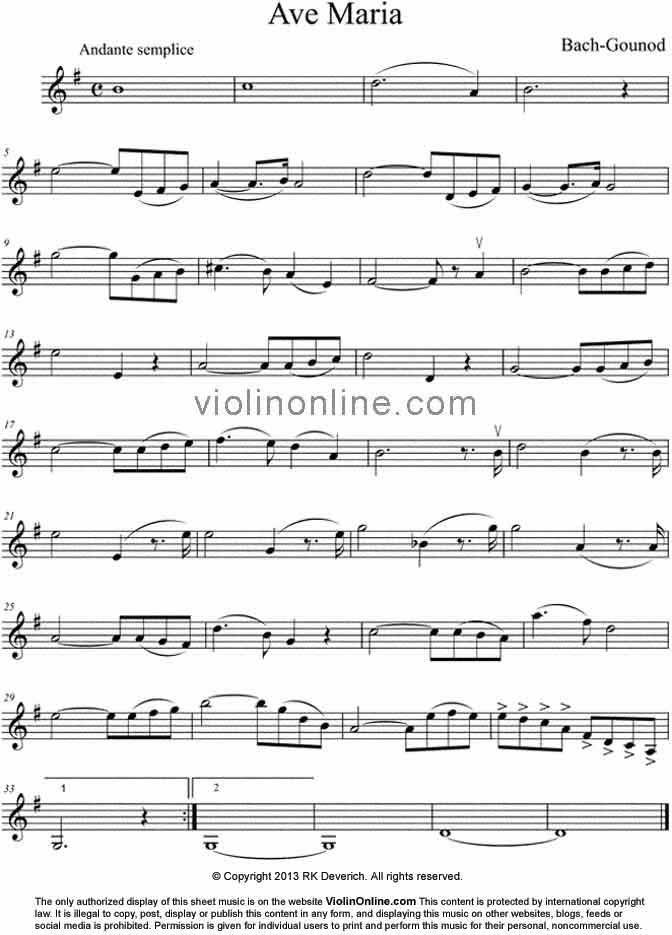 ave maria bach sheet music pdf