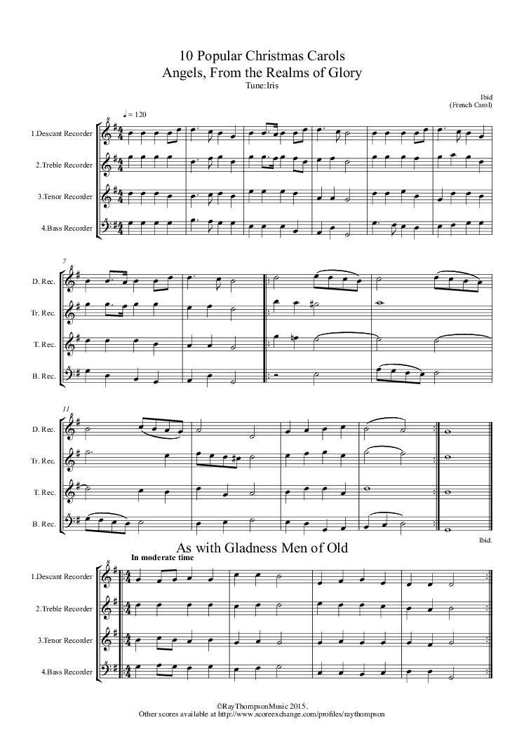 christmas carols satb pdf