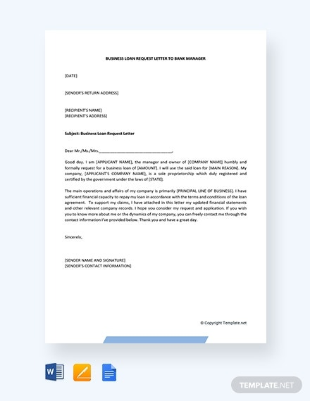 business loan request letter to bank manager pdf