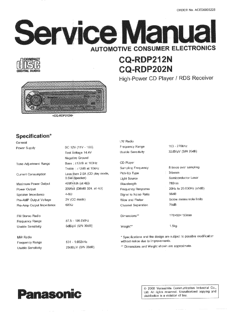 download manual for panasonic tz80