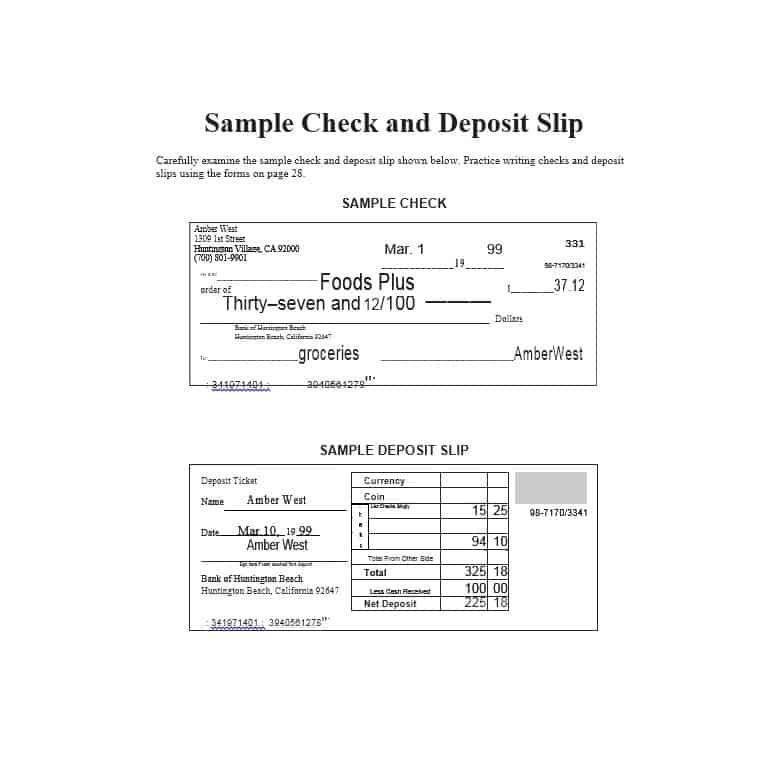 bank withdrawal slip sample