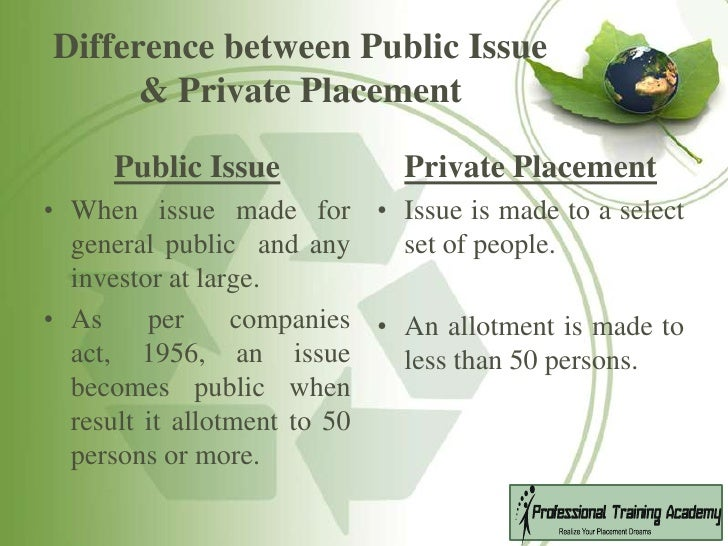 difference between public and private company pdf