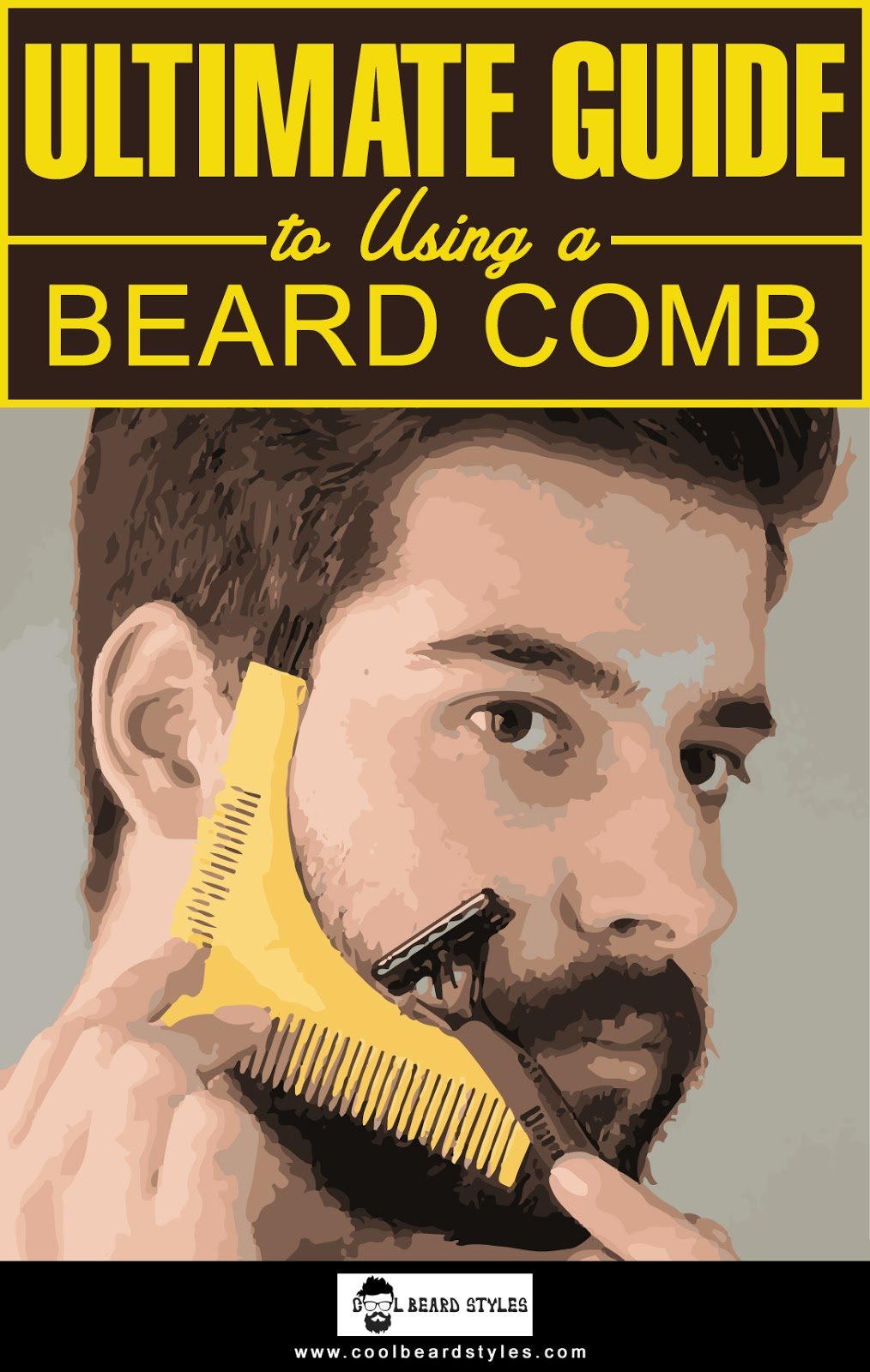 beard comb guide
