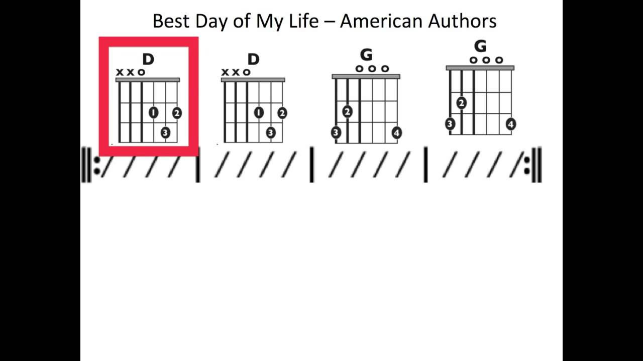 best day of my life ukulele chord guide