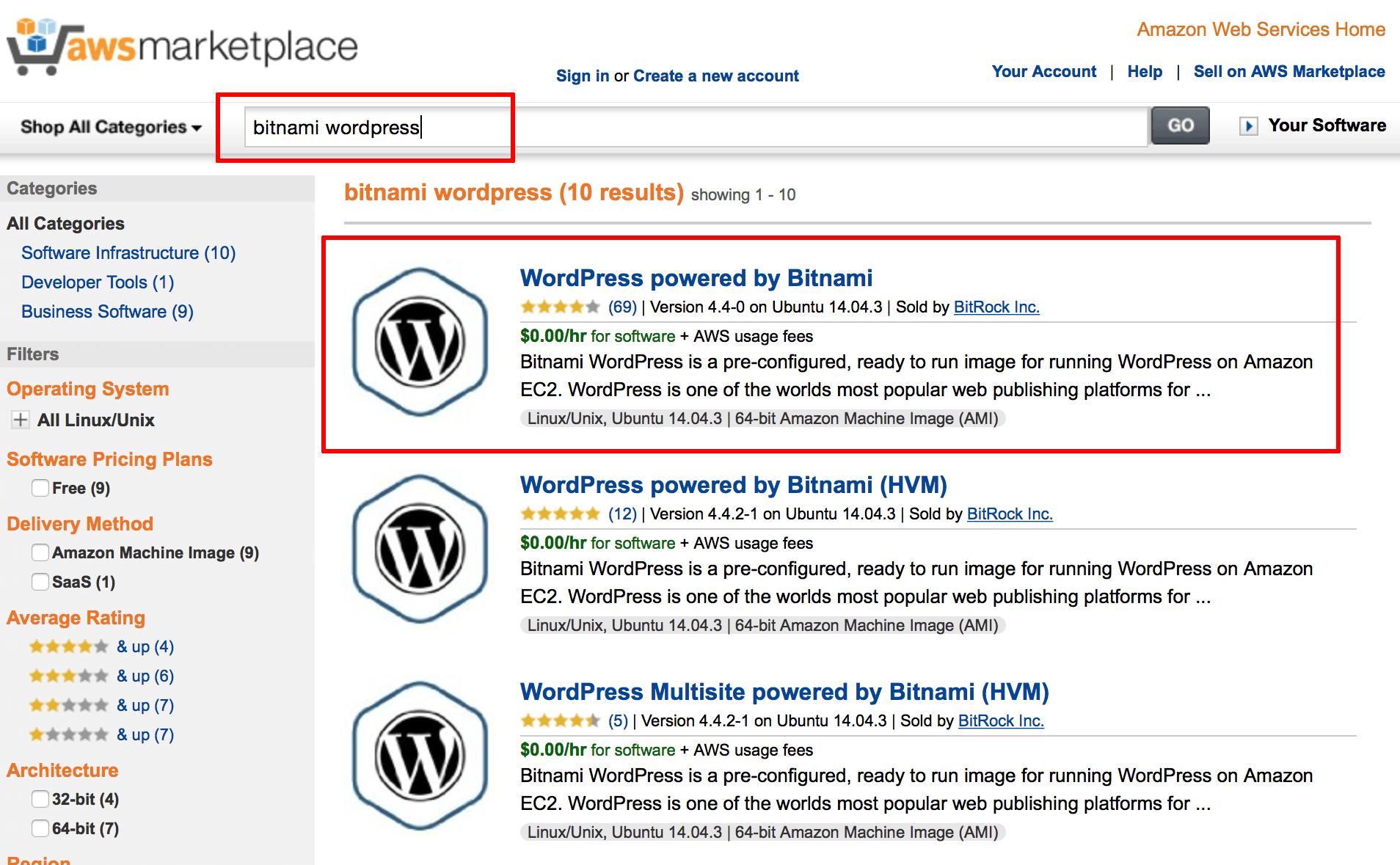 bitnami application pricing