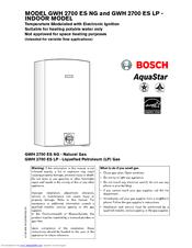 bosch water heater manual