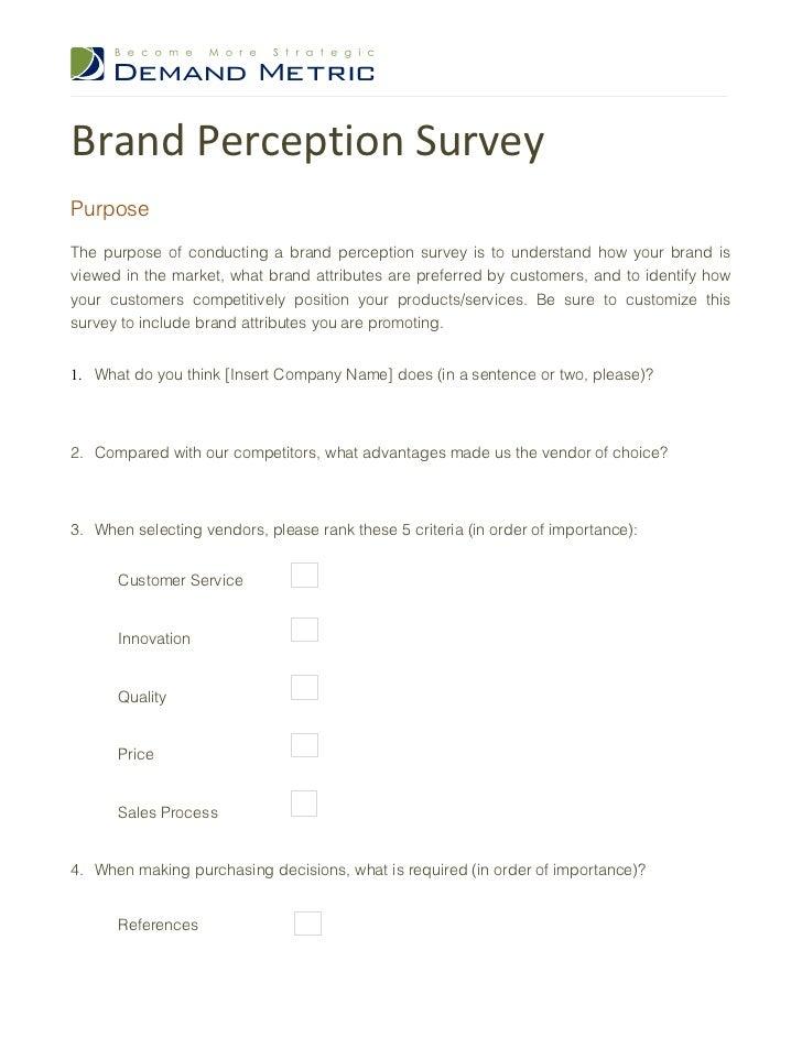 brand loyalty survey questionnaire pdf