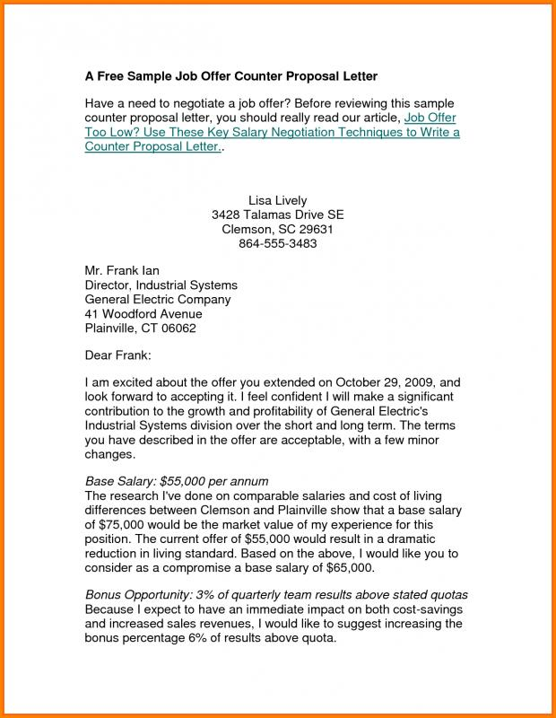 business purchase counter offer letter sample