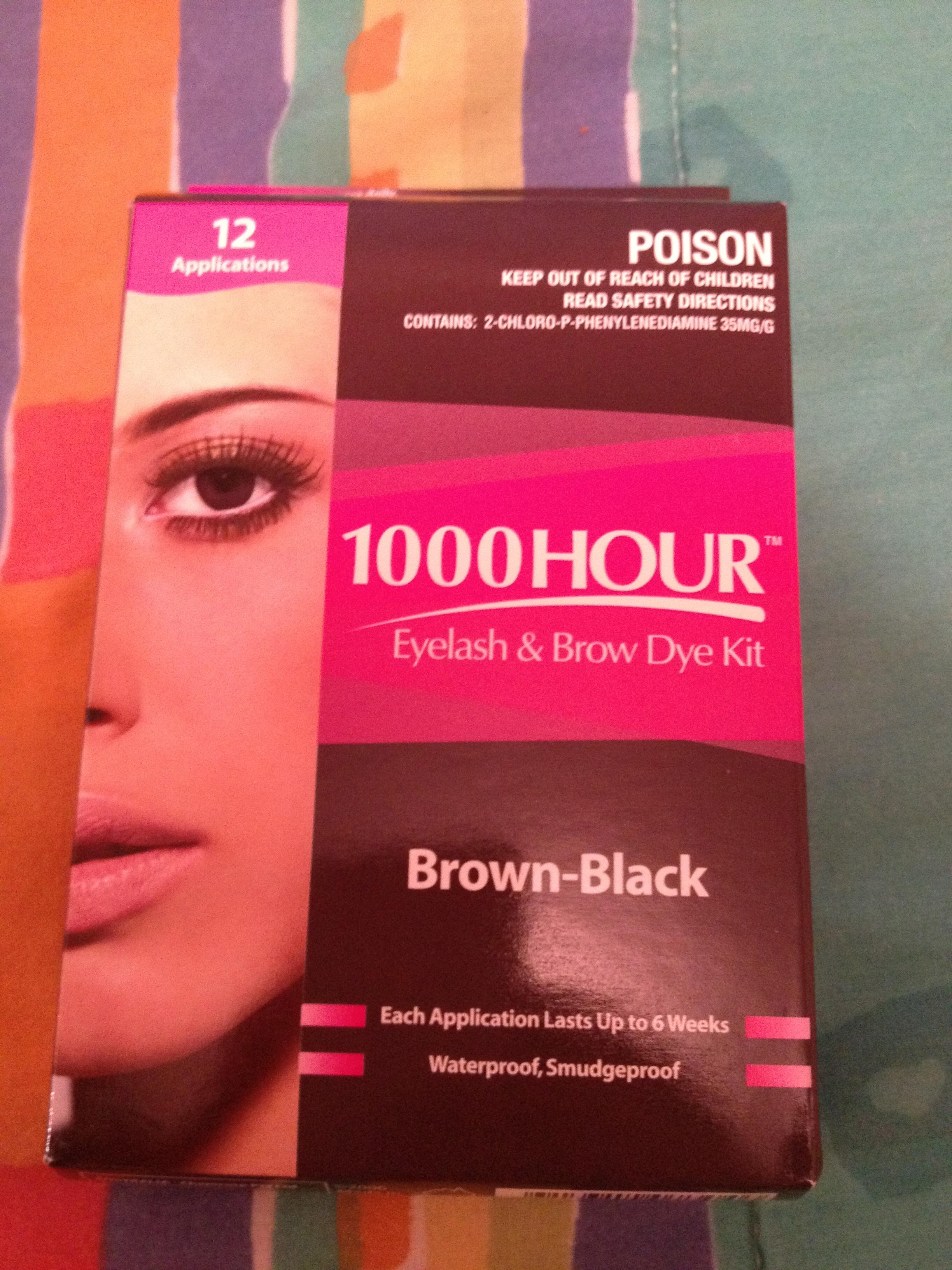 1000 hour eyebrow dye instructions