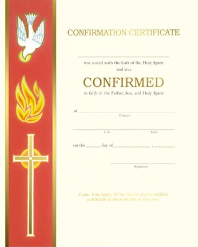 confirmation certificate pdf