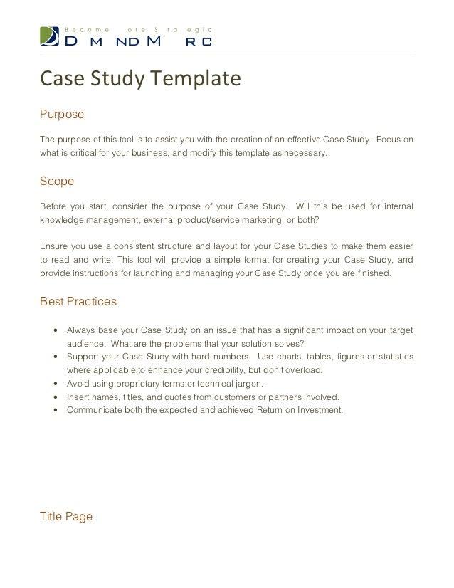 case study sample