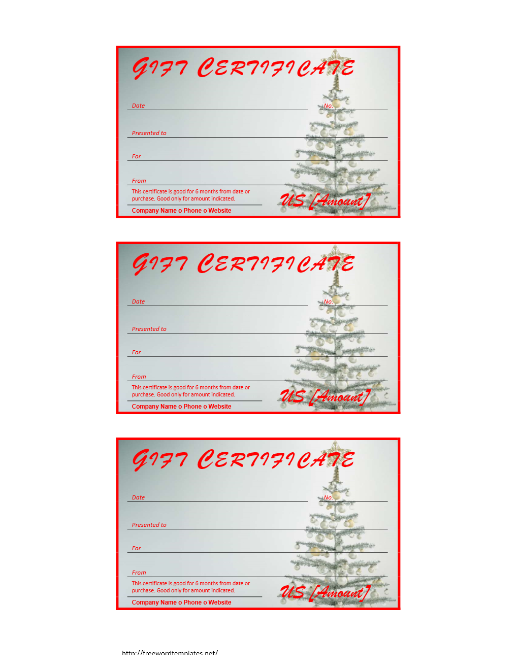 christmas gift certificate template pdf