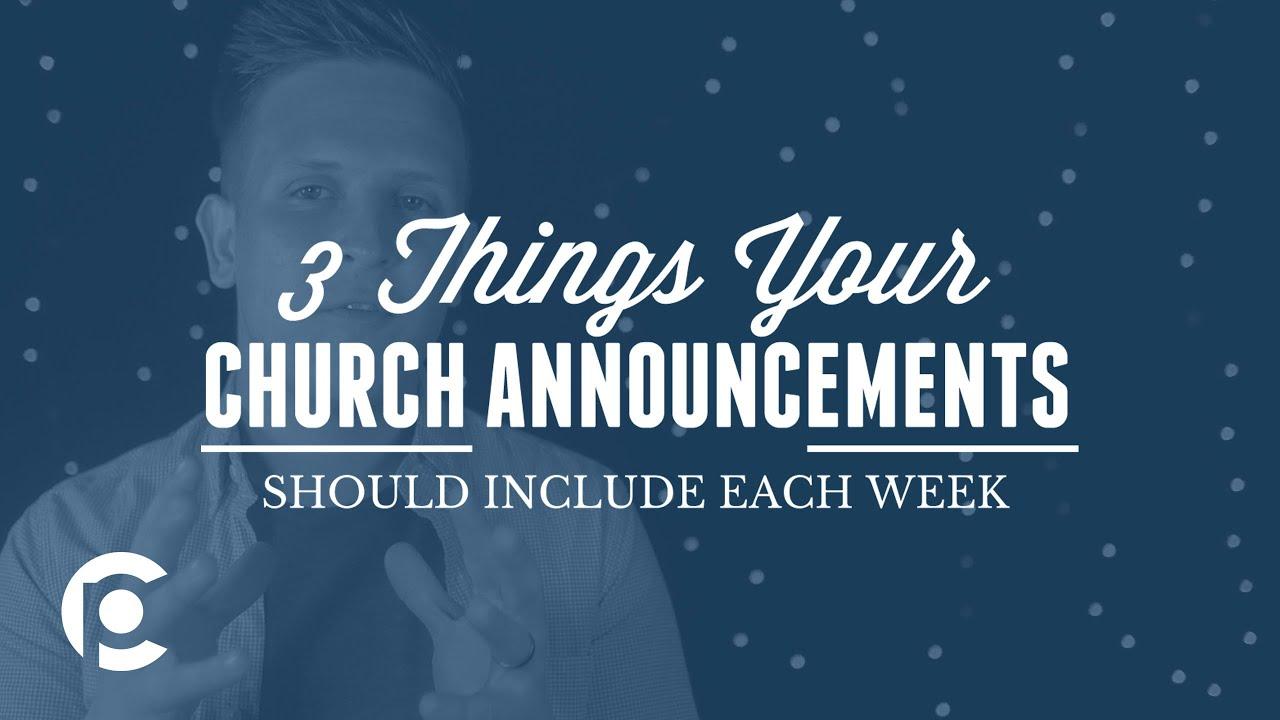 church announcement script sample